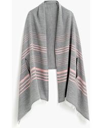 J.Crew - Striped Cape-scarf - Lyst