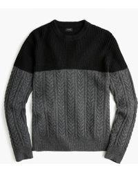 J.Crew - Rugged Merino Wool Mixed-knit Crewneck Jumper - Lyst