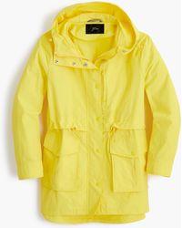J.Crew Tall Perfect Rain Jacket - Yellow