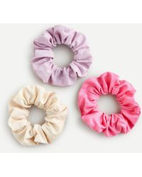 J.Crew - Three-pack Of Wide Cotton Scrunchies - Lyst