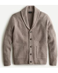 J.Crew Rugged Merino Wool Shawl Cardigan Jumper - Grey