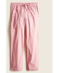 J.Crew Pajama Pant In Cotton Poplin - Red