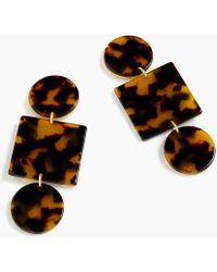 J.Crew - Geometric Tortoise Clip-on Earrings - Lyst