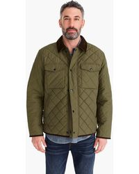 J.Crew - Sussex Quilted Jacket With Corduroy Collar - Lyst