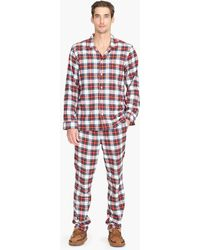 J.Crew - Flannel Pajama Set In Stewart Tartan - Lyst