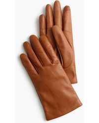 J.Crew Cashmere-lined Leather Gloves - Brown