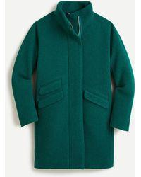 J.Crew Cocoon Coat In Italian Stadium-cloth Wool - Green
