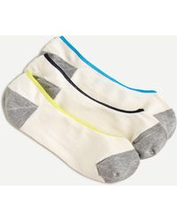 J.Crew No-show Three-pack In Colorblock - White