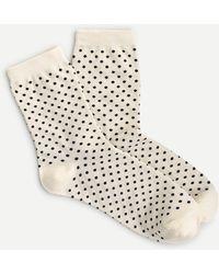J.Crew Bootie Socks In Polka Dot - White