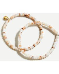 J.Crew Beaded Stretch Bracelet Set - Natural