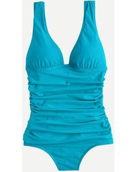 J.Crew - Ruched Femme One-piece Swimsuit - Lyst
