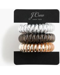 J.Crew - Spiral Hair Ties Three-pack - Lyst
