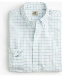 J.Crew - Slim American Pima Cotton Checked Oxford Shirt With Mechanical Stretch - Lyst