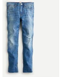 "J.Crew 9"" Vintage Straight Jean In Wainscott Wash - Blue"