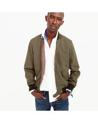 J.Crew - Wallace & Barnes Garment-dyed Cotton Ma-1 Bomber Jacket - Lyst
