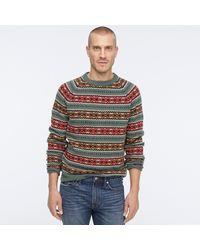 J.Crew Fair Isle Lambswool Crewneck Sweater - Multicolor