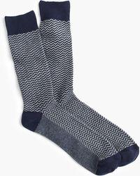 J.Crew - Zigzag Socks - Lyst