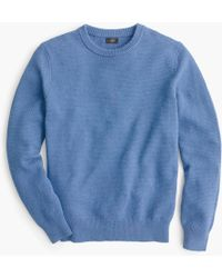 Lyst - J.Crew Cotton Crewneck Sweater In Moss Stitch in Natural for Men 8288933fb