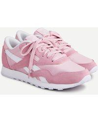 J.Crew Reebok® Classic Nylon Sneakers - Pink