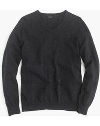 J.Crew - Rugged Cotton V-neck Sweater - Lyst