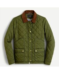 J.Crew Quilted Barn Jackettm - Green