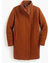 J.Crew Petite Stadium-cloth Cocoon Coat - Brown