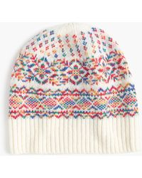 J.Crew - Wool Hat In Colorful Fair Isle - Lyst