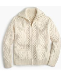 J.Crew American Wool Full-zip Sweater With Imperial Yarn - Multicolor