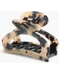 J.Crew - Rounded Open-sided Hair Clip In Italian Tortoise - Lyst