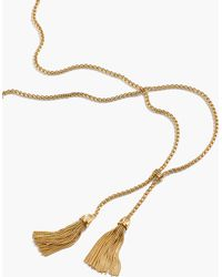 J.Crew Tassel Chain Necklace - Metallic