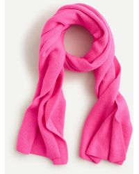J.Crew Ribbed Scarf In Supersoft Yarn - Multicolor