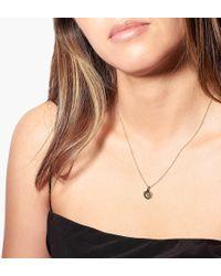 Odette New York - Hex Monogram Necklace - Lyst