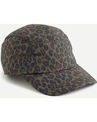 J.Crew Five-panel Hat In Leopard Print - Brown