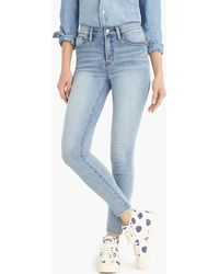 """J.Crew - 9"""" High-rise jeggings In Azure Wash - Lyst"""
