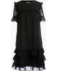 J.Crew - Point Sur Ruffle Dress In Crinkle Chiffon - Lyst