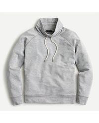 J.Crew Cloud Fleece Funnelneck Sweatshirt - Grey