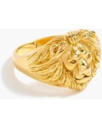 J.Crew - Demi-fine 14k Gold-plated Lion Ring - Lyst