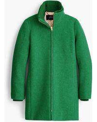J.Crew Lodge Coat In Italian Stadium-cloth Wool - Green