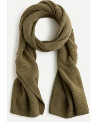 J.Crew Ribbed Scarf In Supersoft Yarn - Green