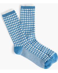 J.Crew - Trouser Socks In Gingham And Stripes - Lyst