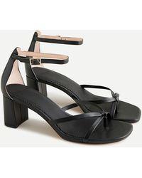 J.Crew Skinny Cross-strap Sandals In Leather - Black