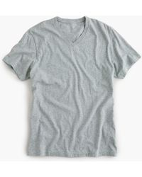 J.Crew - Mercantile Broken-in V-neck T-shirt In Heather Grey - Lyst