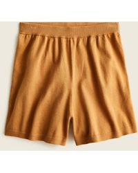 J.Crew High-waisted Cotton-cashmere Sweater Short - Brown