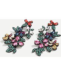 J.Crew Glittering Garden Statement Earrings - Multicolor