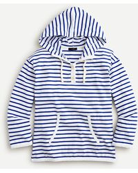 J.Crew Mariner Cloth Button-up Hoodie - Blue