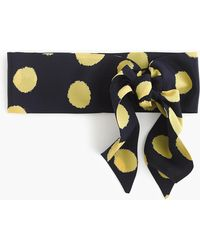 J.Crew - Silk Headband In Dizzy Dot - Lyst
