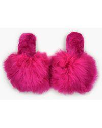 Ariana Bohling Suri Alpaca Slippers - Pink