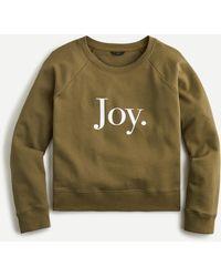 """J.Crew """"joy"""" Sweatshirt In Original Cotton Terry - Green"""