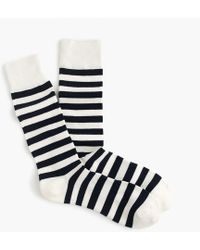 J.Crew - Striped Padded Footbed Socks - Lyst