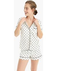 J.Crew - Dreamy Cotton Short-sleeve Pajama Set In Dot - Lyst
